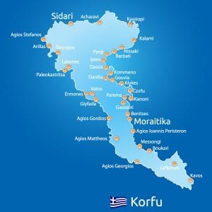 mapa korfu