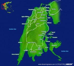 dreamingreece dream in greece lefkada island lefkas ionian islands greek islands map xartis english